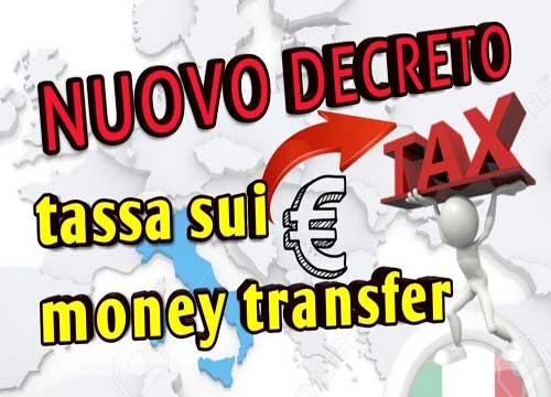 Tassa sui trasferimenti di denaro all'estero