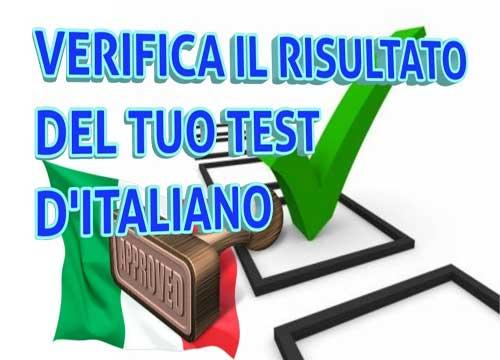 Verifica il risultato del tuo test di italiano