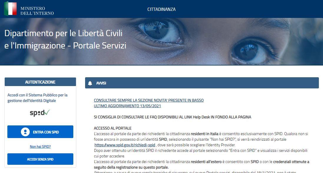 Cittadinanza Italiana 2021